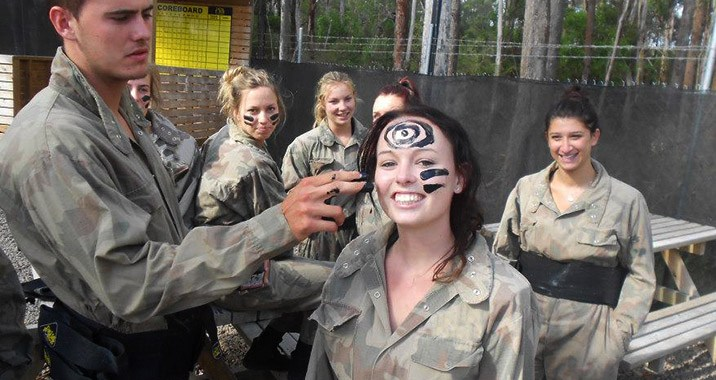 Nothing like a bit of war paint to make you look the part.