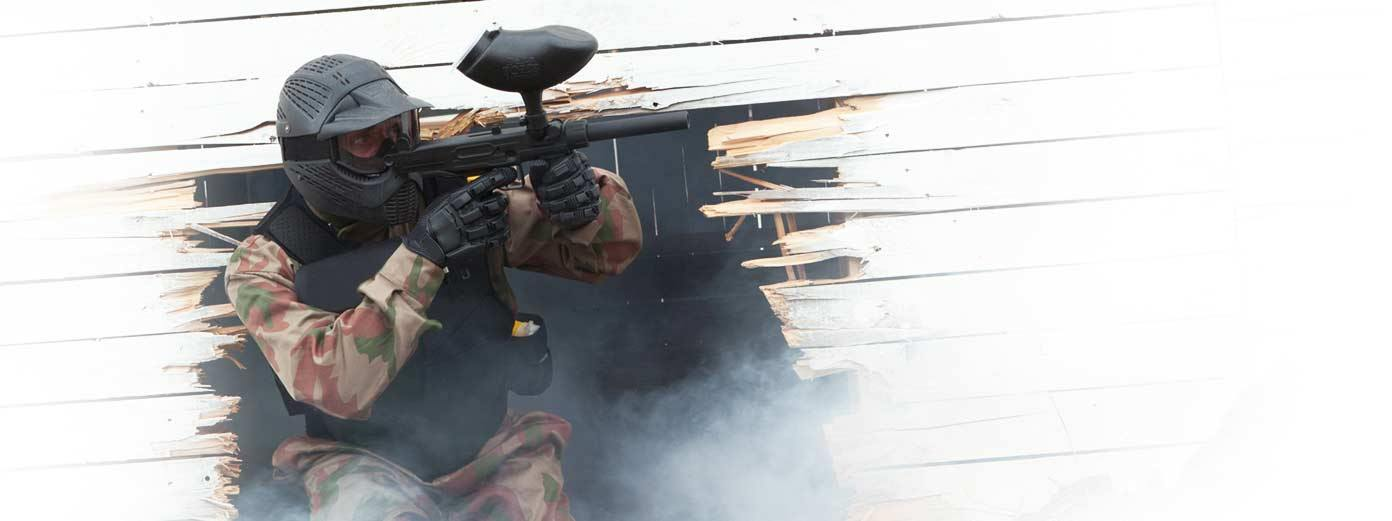 Paintball Game with Full Equipment